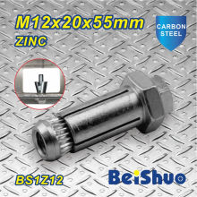 M12X20X55mm Carbon Steel Threading Machine Expansion Bolt