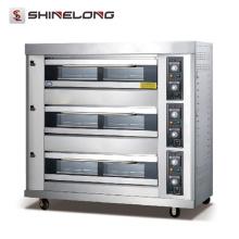 K267 3 Schichten 9 Schalen Beweglicher automatischer Gas-Plattform-Ofen
