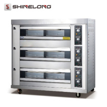 K267 3 Layers 9 Trays Movable Automatic Gas Deck Oven