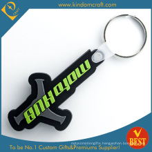 High Quality Customized Logo Cheap Promotional Rubber Key Chain From China