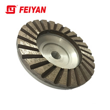 Turbo type single row Diamond cup wheel with AL. basement