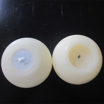 Bola Pusingan Kecil Flameless LED Lilin Wax