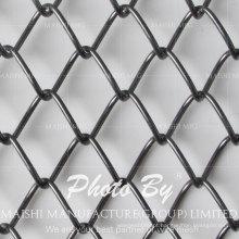 Esgrima de fio de corrente revestida de PVC preto