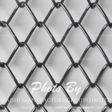 Black PVC Coated Chain Wire Fencing