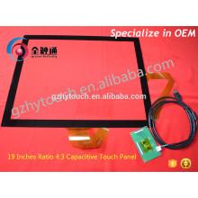 Interface USB Ecran tactile transparent résistant à la tension de 19 pouces