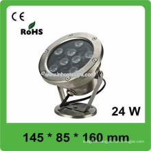 CE and ROHS AC12V-24V IP68 waterproof underwater light for boat , 3 years warranty