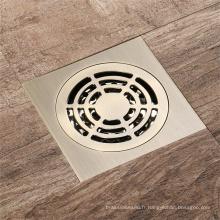 Drain de plancher de cuivre antique de cuivre de salle de bains complète