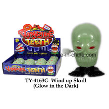 Wind up Skull Glow in der Dunkelheit