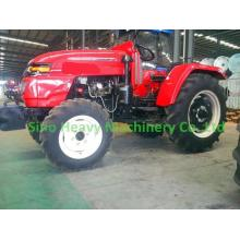 Red Four Wheel Drive 55HP Pertanian Traktor