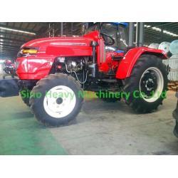 Red Four Wheel Drive 55HP Farm Tractors