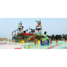 Outdoor Aqua Playground Water House Structures, Water Park