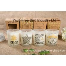 Vela larga perfumada del aceite del masaje de la soja del tiempo ardiente con diseño especial