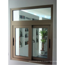 Fenêtre ouvrante coulissante avec double vitrage
