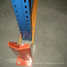 entraînement en rack d'entrepôt en acier dans le système de rayonnage de palette