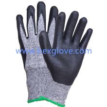 Нитрила покрытием 13 калибровочных Анти-вырезать вкладыш, стойкость к порезам уровень 5 рабочие перчатки