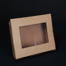 Boîte d'emballage de restauration rapide à papier kraft jetable