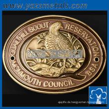 fertigen Sie Metallmedaillen besonders an, kundenspezifische Qualitätsart und weise ovale geformte Wanderstockmedaillons
