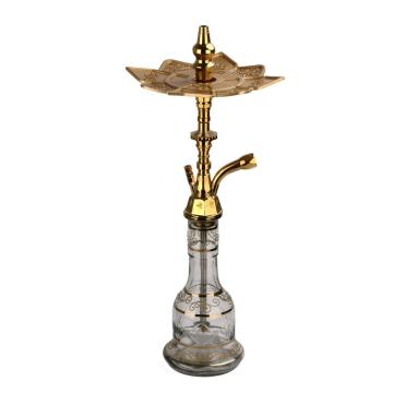 Designer Medium Khalil Mamoon Egyptian Hookahs With Aluminium Tray