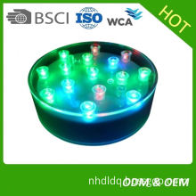 4inch 3AA Battery Powered Round Led Light Base For Giant Wine Glass Vase