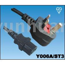 Power cord for UK style - British cables