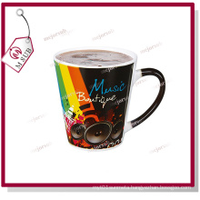 12oz Sublimation Black Magic Mugs with Custom Photo