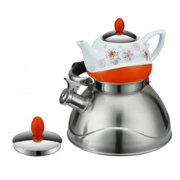 Double Tea Pot Orange Serious