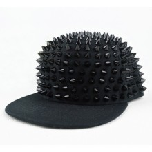 Flat bill hip-hop dance hat rivet baseball cap hat