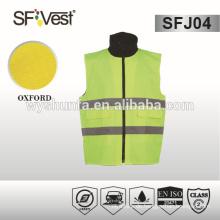 2015 heißer Verkauf gepolsterte preiswerte hohe Sichtbarkeit Sicherheitsweste mit 190t Taftfutter mit vielen Taschen, EN ISO 20471: 2013