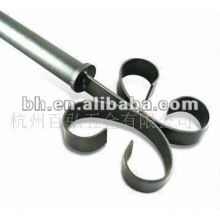 2012 popular medal and resin finial curtain rod for windows & home decor