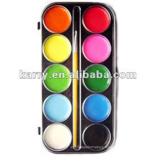 10 color damp-dry water color paint cake set with a brush 6096#