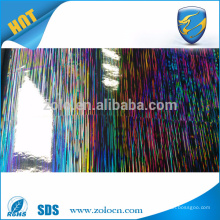 Anti-counterfeiting packaging laser decoration film,PET self adhesive holographic film
