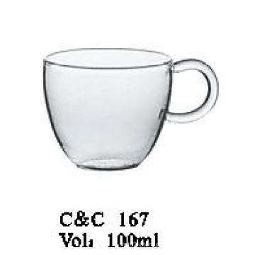 Double Walled Thermal Glass Cups for Juice, China Manufacture Round Shape Glass Cup for Juice