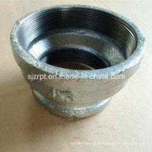 """4 * 3 """"Banded Acoplamento galvanizado reduzindo o encaixe de tubulação de ferro maleável"""