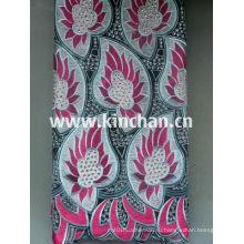 Горячая Seling африканских Handcut Швейцарский вуаль кружевной ткани с множеством камней