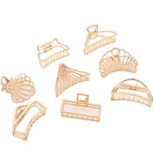 Bandeau fascia per capelli Korean Alloy Plating Hair Claw Golden Geometric Fashion Hairpin For Women Girl hair pin accessories