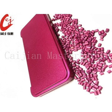 Rose Red Free Spraying Masterbatch Granules