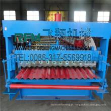 Máquina de fabricação de telhas de chapa ondulada FX