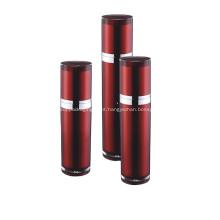 Garrafa de bomba de loção para embalagem de cosméticos vinho tinto vazio