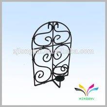 Single hook wrougnt iron outdoor garden display flower metal wire rack display hooks