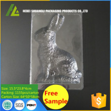 Large Plastic Rabbit Chocolate PET Package Tray