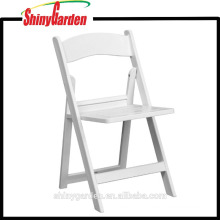 White Walmart Outdoor Plastic Chair With Slatted Seat