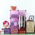 Pink Color Wardrobe, Storage Organizer, Storage Cabinet (FH-AL0021-3)