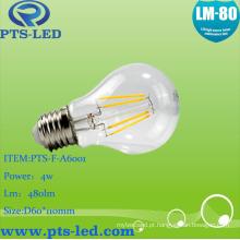 A60 4W 5W 6W 7W 8W 9W LED lâmpada incandescente com regulável e não pode ser escurecido