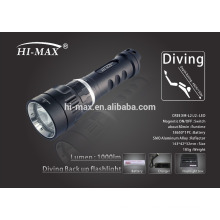 Wholesale price narrow beam 8 degree scuba diving torch led light