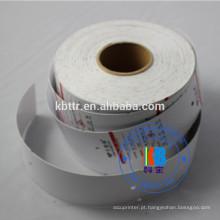 etiquetas brancas do plástico da etiqueta do cartão do vestuário da roupa da impressão do papel em branco feito sob encomenda