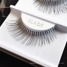 Semi-Hand Made Mink tipo de material de cabelo sintético Natural procurando cílios falsos