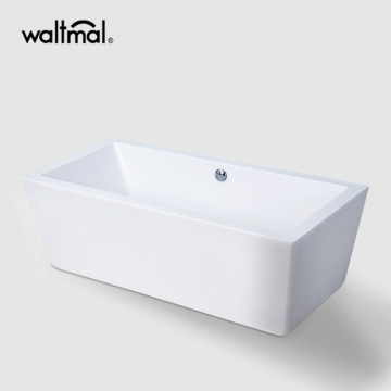 Eden Center Drain Bath SoakingTub in White