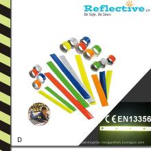 Reflective Arm Slap Band With Colorful Imprint Logo