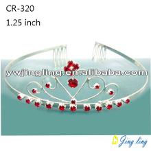 2018 Small Tiara Red Rhinestone Crown