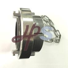 tapa sellada de aluminio o latón con cadena